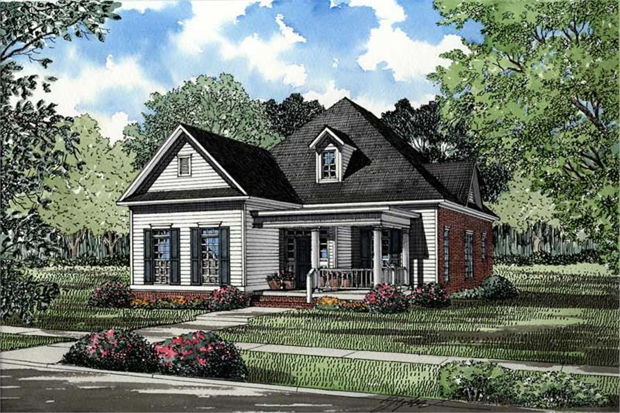 3-Bedroom, 1934 Sq Ft Southern Home Plan - 153-1395 - Main Exterior