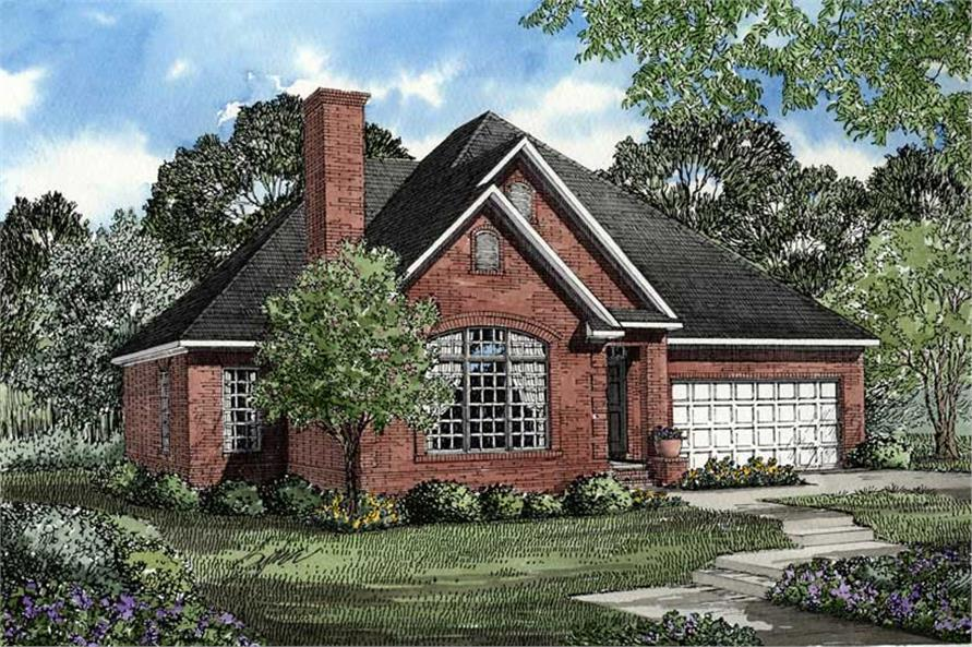 3-Bedroom, 1654 Sq Ft Country Home Plan - 153-1396 - Main Exterior
