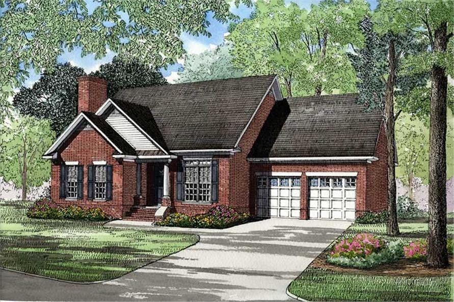 3-Bedroom, 1627 Sq Ft Small House Plans - 153-1397 - Main Exterior