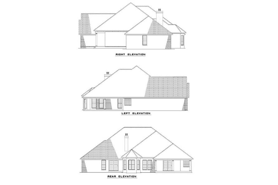 EXTEIROR ELEVATIONS of this 4-Bedroom,2478 Sq Ft Plan -2478