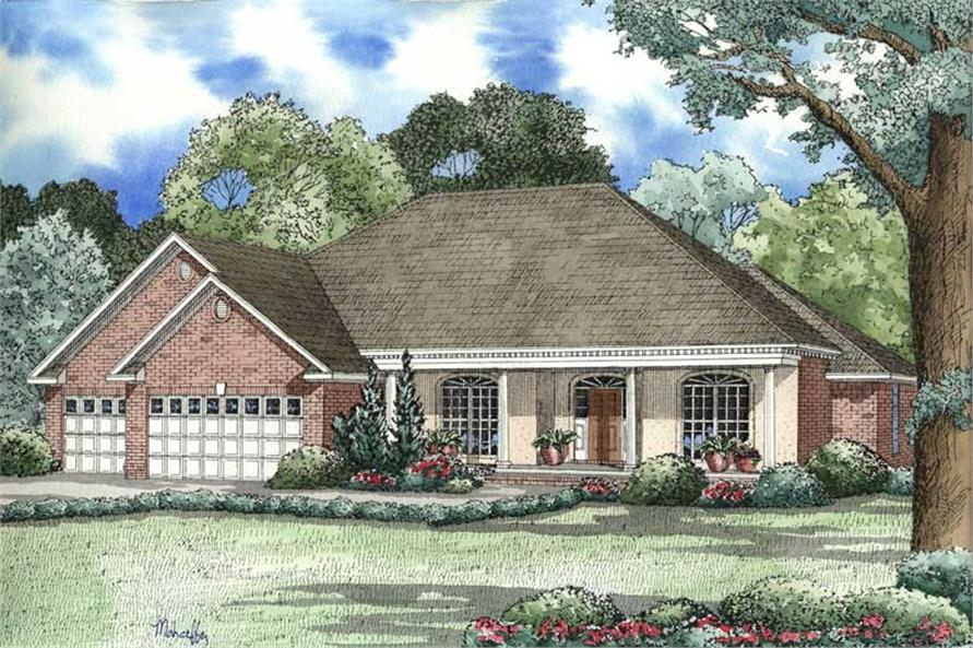 4-Bedroom, 2478 Sq Ft French House Plan - 153-1399 - Front Exterior
