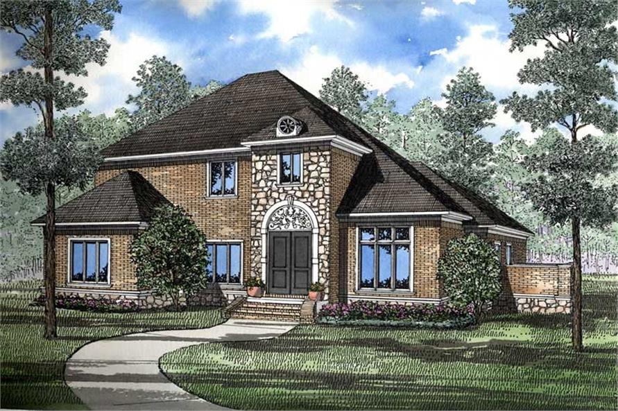 3-Bedroom, 3623 Sq Ft European House Plan - 153-1400 - Front Exterior