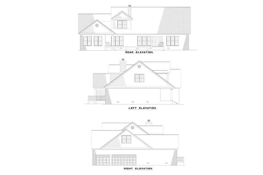 EXTERIOR ELEVATIONS of this 3-Bedroom,3914 Sq Ft Plan -3914