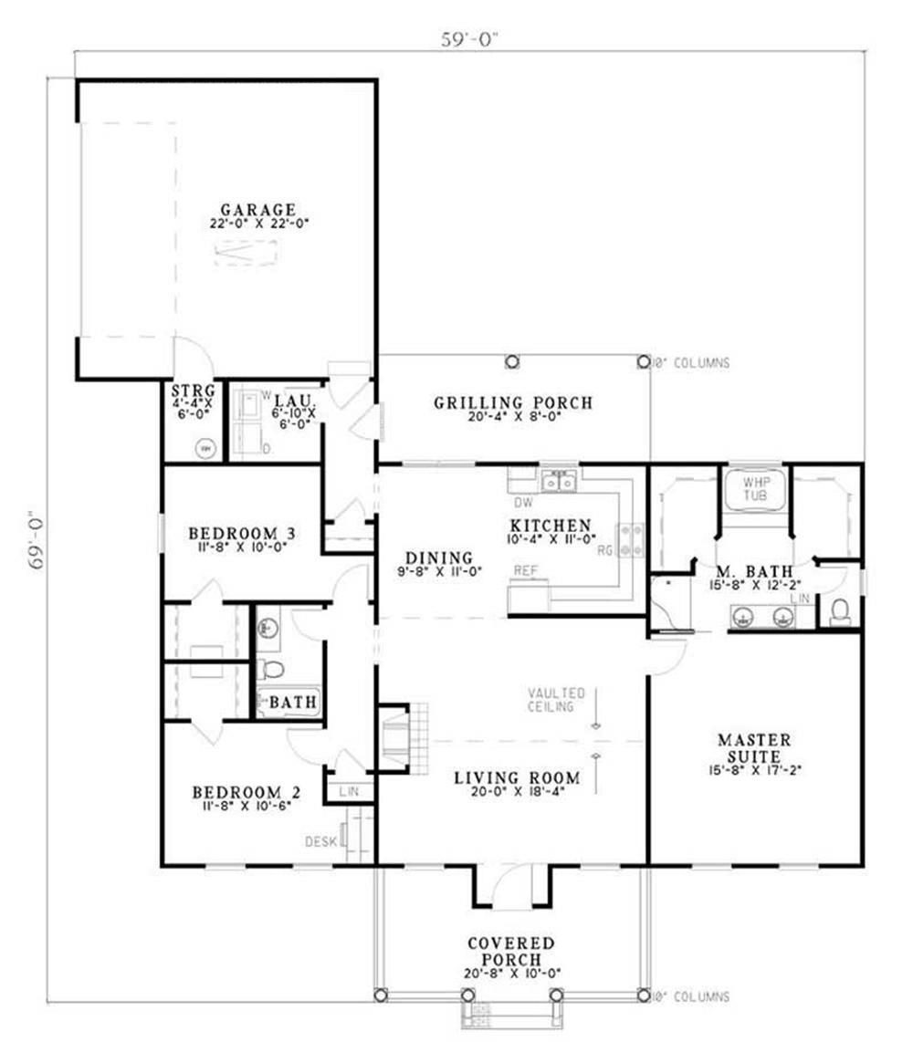 Large Images For House Plan 153 1404