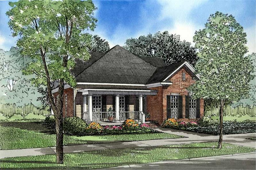 4-Bedroom, 2252 Sq Ft Southern Home Plan - 153-1405 - Main Exterior