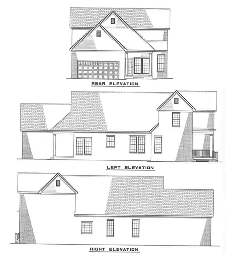 Southern Traditional House Plans Home Design Ndg 309 3479