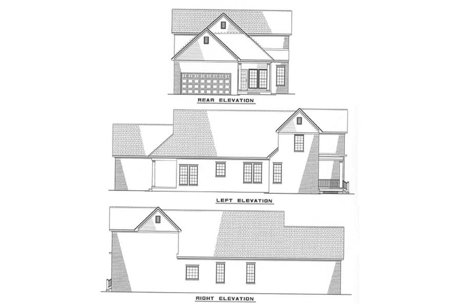 Other Elevations of this 4-Bedroom,1987 Sq Ft Plan -1987