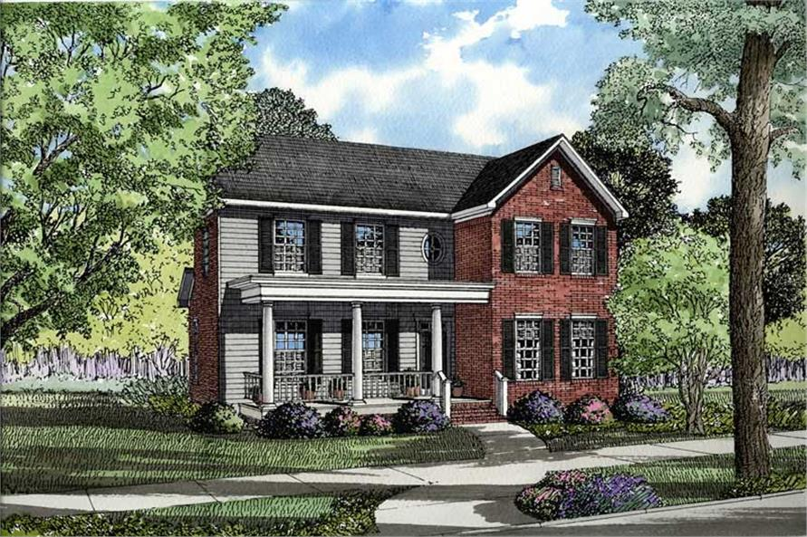4-Bedroom, 1987 Sq Ft Southern Home Plan - 153-1406 - Main Exterior