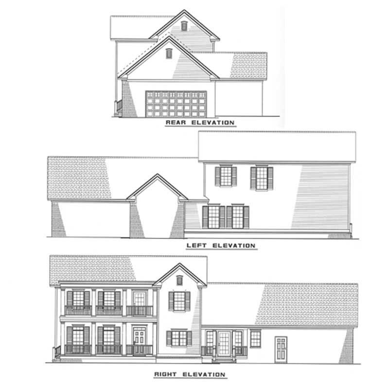Southern traditional house plans home design ndg 310 3483 for Traditional southern house plans