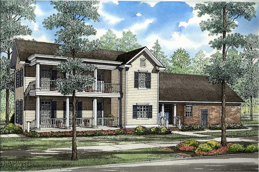 4-Bedroom, 1959 Sq Ft Southern Home Plan - 153-1407 - Main Exterior