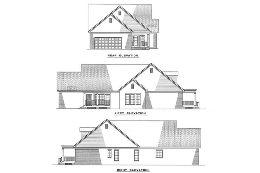 Other Elevations of this 3-Bedroom,1832 Sq Ft Plan -1832