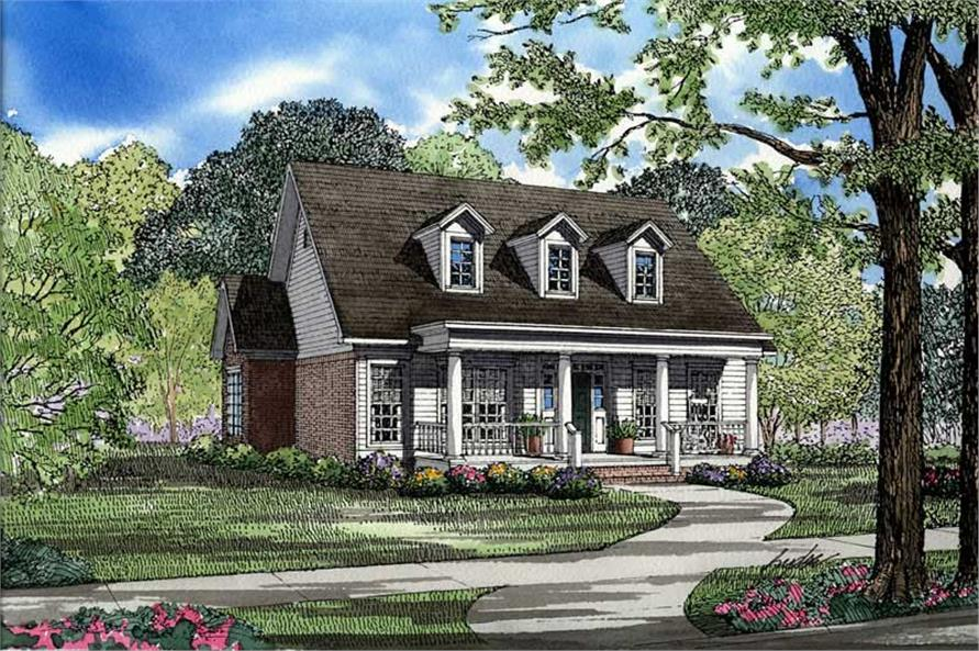 3-Bedroom, 1832 Sq Ft Southern Home Plan - 153-1409 - Main Exterior
