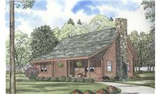Log Houseplans color rendering.