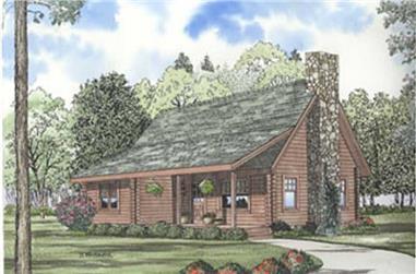 Log Houseplans color rendering.
