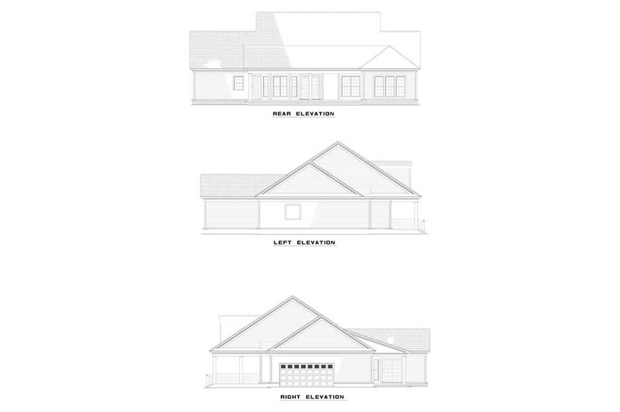 Home Plan Rear Elevation of this 3-Bedroom,1989 Sq Ft Plan -153-1411