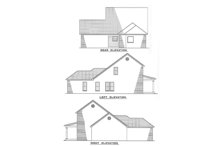 Other Elevations of this 3-Bedroom,1595 Sq Ft Plan -1595