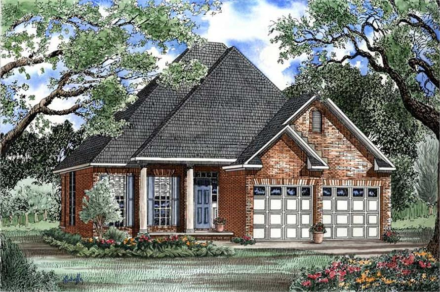 3-Bedroom, 1504 Sq Ft Country Home Plan - 153-1413 - Main Exterior