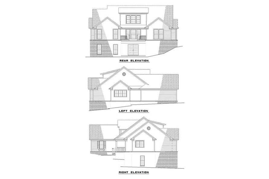 EXTERIOR ELEVATIONS of this 3-Bedroom,2447 Sq Ft Plan -2447