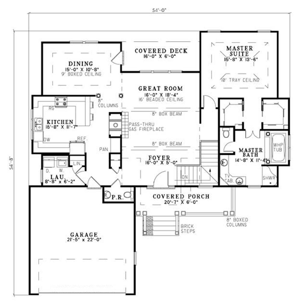 153-1415 house plan main floor