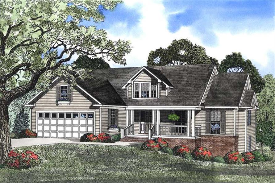 3-Bedroom, 2447 Sq Ft Country House Plan - 153-1415 - Front Exterior