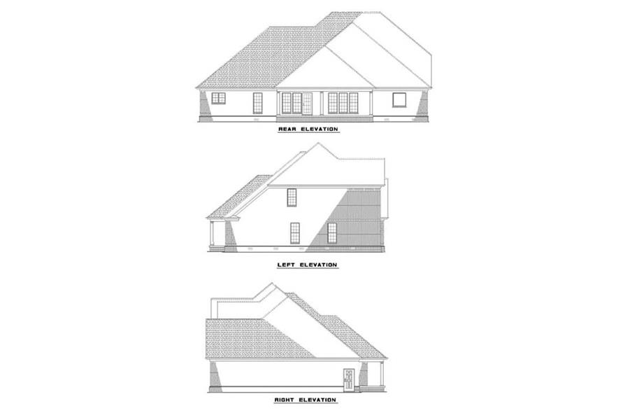 EXTERIOR ELEVATIONS of this 5-Bedroom,3283 Sq Ft Plan -3283
