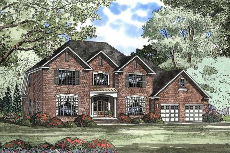 5-Bedroom, 3283 Sq Ft Country House Plan - 153-1416 - Front Exterior