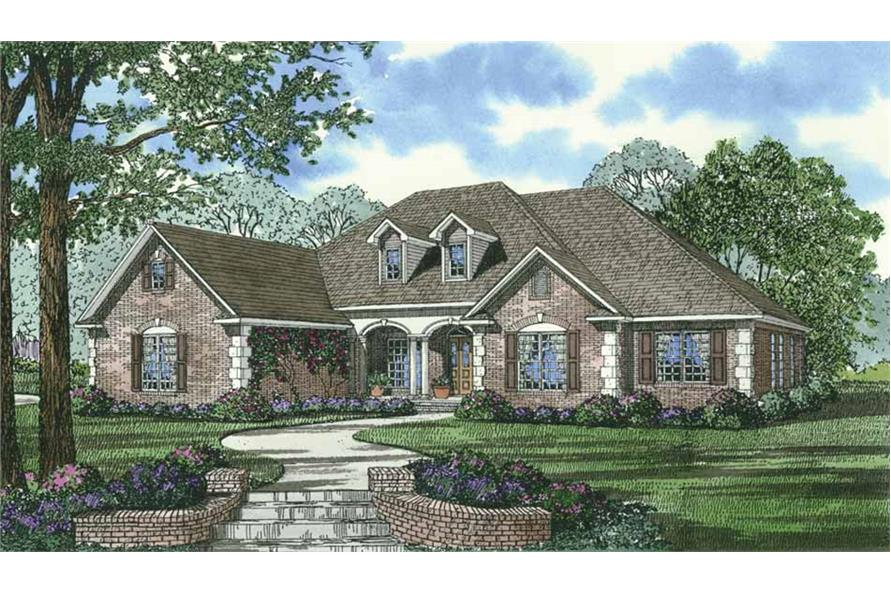 Home Plan Rendering of this 4-Bedroom,2405 Sq Ft Plan -153-1417