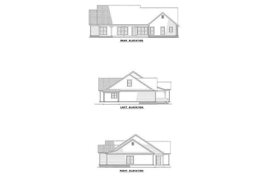 EXTERIOR ELEVATIONS of this 4-Bedroom,2169 Sq Ft Plan -2169