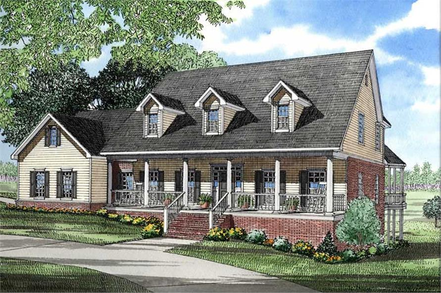 5-Bedroom, 4382 Sq Ft Southern House Plan - 153-1419 - Front Exterior