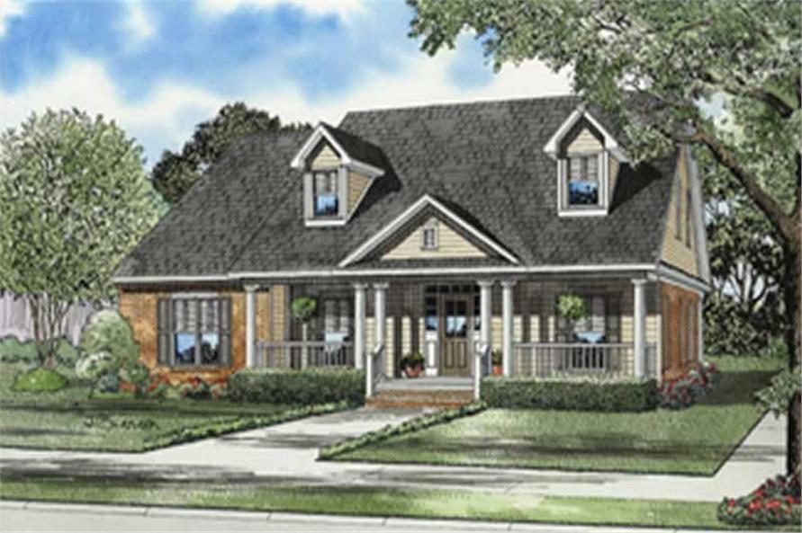 4-Bedroom, 3002 Sq Ft Cape Cod Home Plan - 153-1420 - Main Exterior