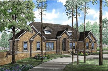 4-Bedroom, 3374 Sq Ft Georgian Home Plan - 153-1421 - Main Exterior