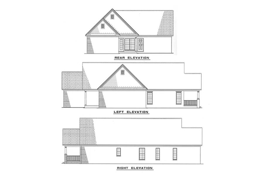 Other Elevations of this 3-Bedroom,1449 Sq Ft Plan -1449