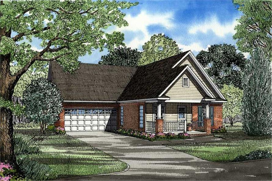 3-Bedroom, 1449 Sq Ft Country House Plan - 153-1422 - Front Exterior