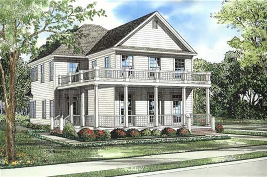 3-Bedroom, 1897 Sq Ft Country House Plan - 153-1423 - Front Exterior