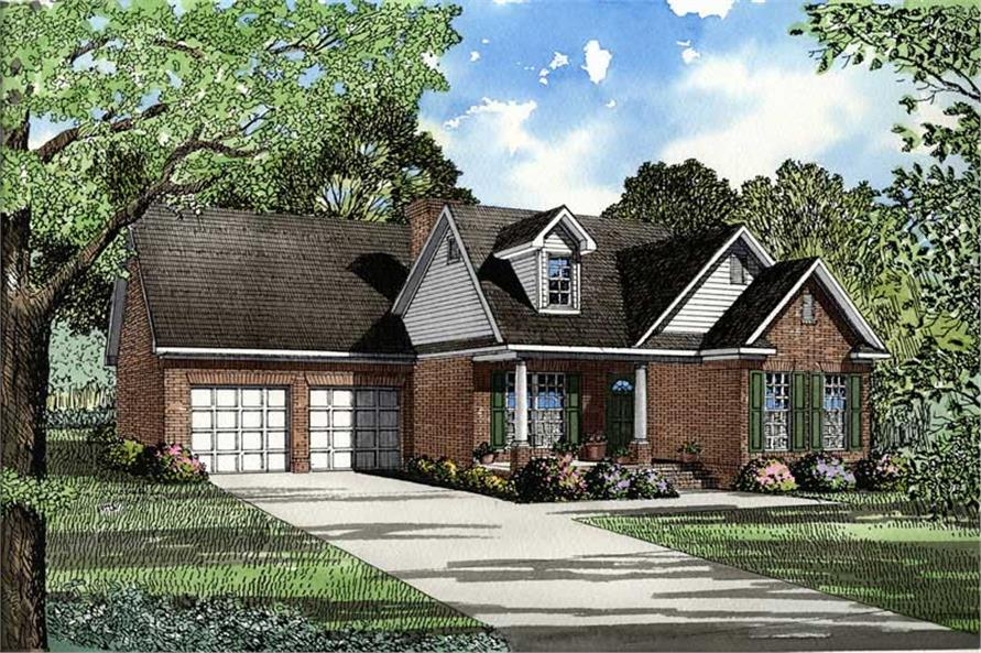 3-Bedroom, 1452 Sq Ft French Home Plan - 153-1425 - Main Exterior