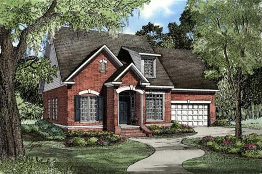 Home Plan Rendering of this 3-Bedroom,1684 Sq Ft Plan -153-1426