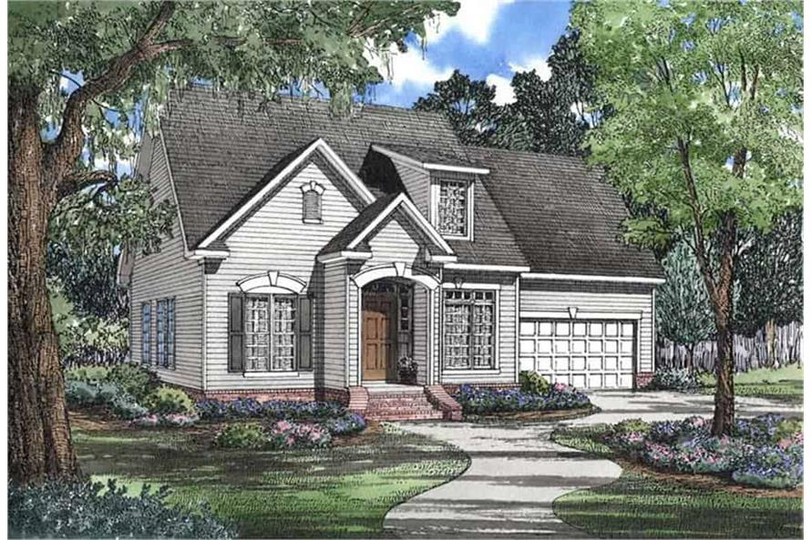 Front View of this 3-Bedroom,1684 Sq Ft Plan -153-1426
