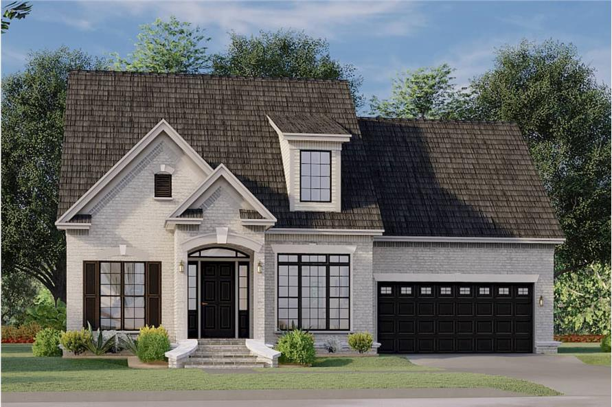 3-Bedroom, 1684 Sq Ft Colonial Home - Plan #153-1426 - Main Exterior