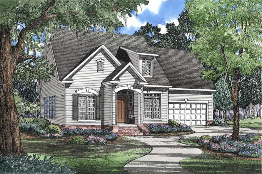 3-Bedroom, 1684 Sq Ft European Home Plan - 153-1426 - Main Exterior