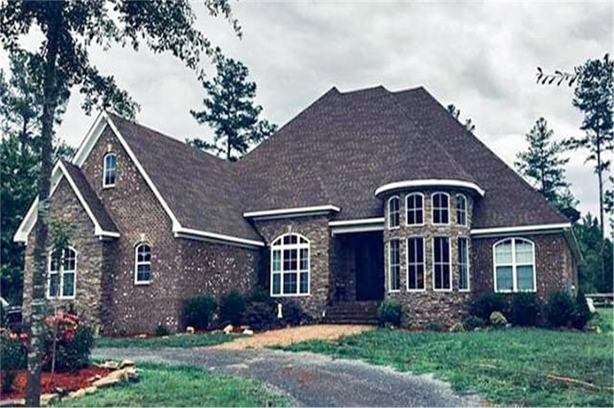 Front View of this 4-Bedroom,3052 Sq Ft Plan -153-1428