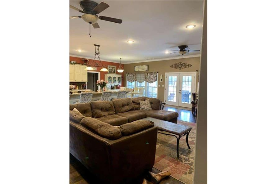 Family Room of this 4-Bedroom,3052 Sq Ft Plan -153-1428