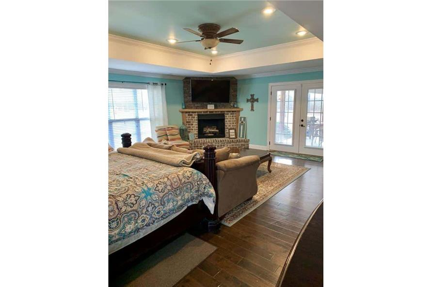 Master Bedroom: Fireplace of this 4-Bedroom,3052 Sq Ft Plan -153-1428