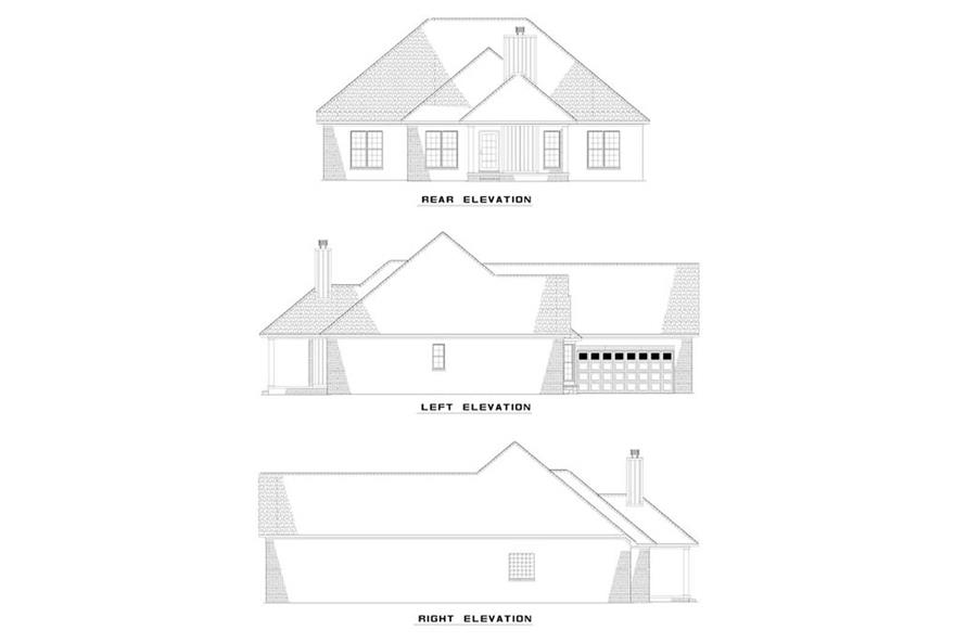 EXTERIOR ELEVATIONS of this 3-Bedroom,1869 Sq Ft Plan -1869