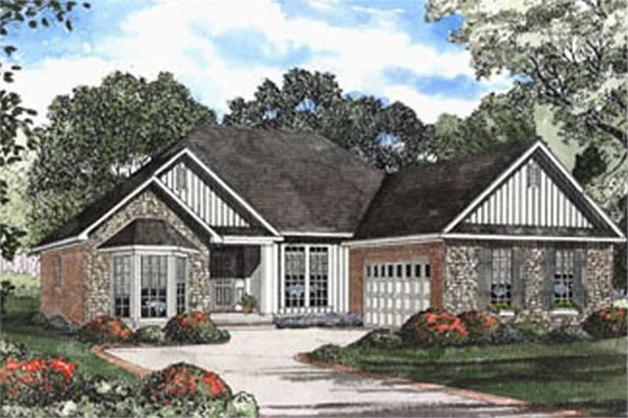 3-Bedroom, 1869 Sq Ft Country Home Plan - 153-1430 - Main Exterior
