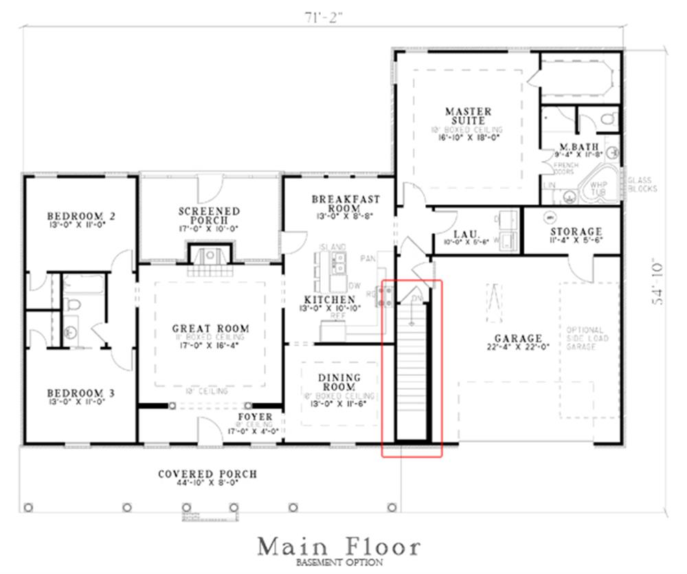 153-1431: Floor Plan Main Level