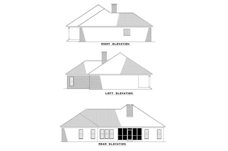 EXTERIOR ELEVATIONS of this 3-Bedroom,1746 Sq Ft Plan -1746