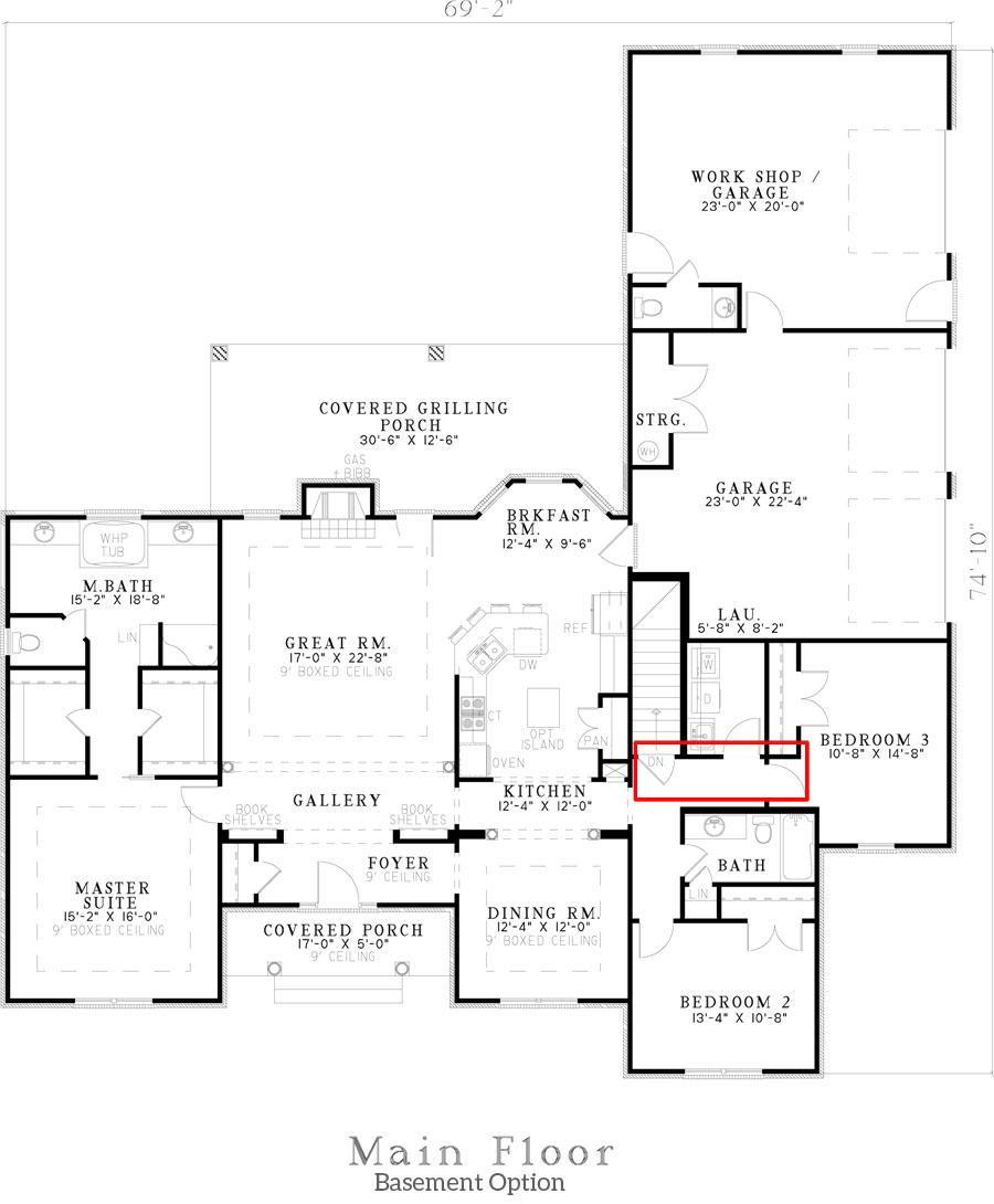 153-1432: Floor Plan Basement