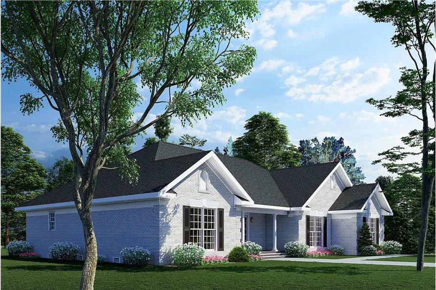 Left View of this 3-Bedroom,2096 Sq Ft Plan -153-1432