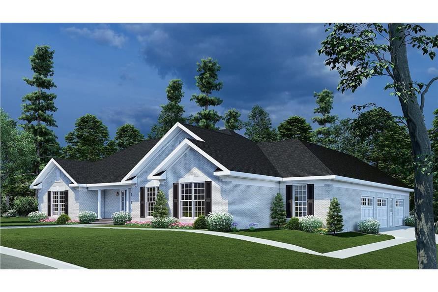 Right View of this 3-Bedroom,2096 Sq Ft Plan -153-1432