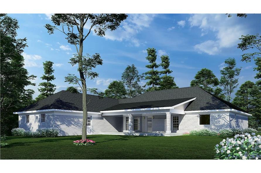 Rear View of this 3-Bedroom,2096 Sq Ft Plan -153-1432